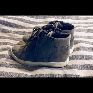 Gray Suede Steve Madden High Tops